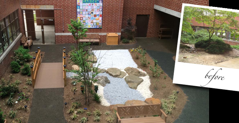 Meditation Garden at Virtua Hospital, Camden, NJ