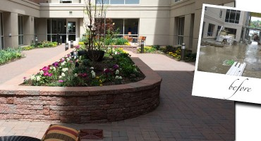 The Atrium Courtyard Garden at Navesink Harbor