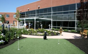 Putting Green in the Physical Therapy Garden at Merwick NJ