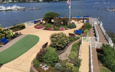 Views of the River Garden at the Atrium along the Navesink River in Red Bank