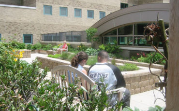 The Kimball Medical Center's Healing Garden provides respite and restoration outside in nature