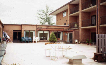 The previous roof top garden at Medford leas CCRC