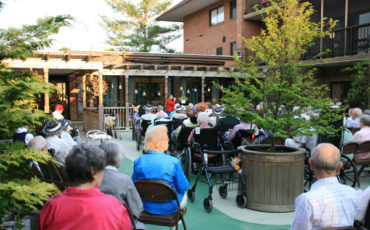 Music is the catalyst that brings residents together at Medford lease CCRC