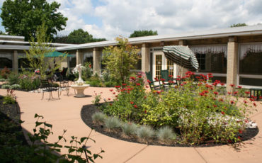 The new Sensory Garden at St. John Newmann Nursing Home was enjoyed by residents and family members