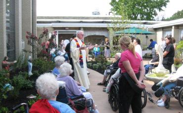 The Sensory Garden at St. John Newmann Nursing Home was dedicated
