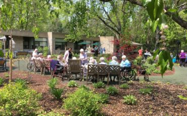 Tranquility Garden at McAuley Convent during the Root Beer Social
