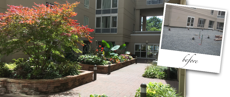 Courtyard Garden at The Atrium at Navesink Harbor CCRC